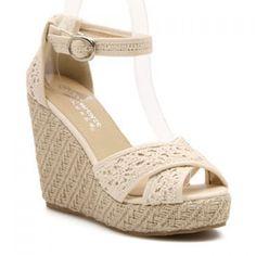 $24.45 Graceful Peep Toe and Weaving Design Women's Sandals
