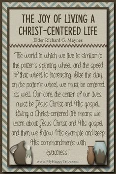 The Joy of Living a Christ-Centered Life. Thanks MyHappyTribe.