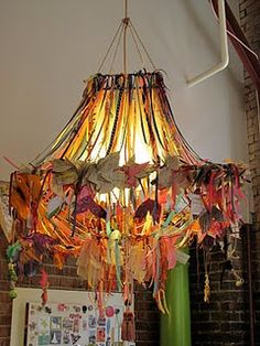 upstyled lampshade. no instructions or anything on this but still a cool idea