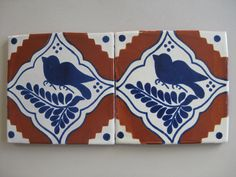 Decorative Terracotta Tiles 25T12 3X3 Talavera Decorative Tile In Blueterracotta  Mexican