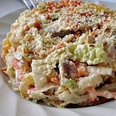 Вкусный салат с пекинской капустой «Переполох». Гурманы оценят по достоинству