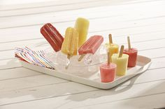 Combine fresh fruit and your choice of extract for a refreshing frozen fruit pop to cool you off this summer.