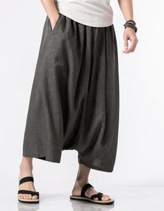 MOO Extreme Drop Crotch Linen Trousers Sirwal Arbi Harem Pants Lightweight Cotton Material Adjustable Drawstrings 2 front pockets Suitable for Islamic Clothing for Men When received the item will show Asian Size Estimated Delivery from 10 to 21 days Harem Pants Men, Mens Dress Pants, Yoga Pants, Capri Trousers, Linen Trousers, Motif Abaya, Fashion Pants, Fashion Outfits, Baggy Clothes