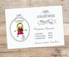 Printable carte merci ma tresse notebooks by and on - Idee cadeau maitresse fait main ...