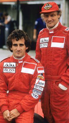 1985 Niki Lauda and Alain Prost McLaren Alain Prost, Formula 1, Jochen Rindt, Mclaren Mp4, F1 Racing, Drag Racing, F1 Drivers, Car And Driver, Courses