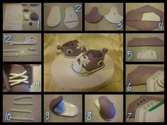 Tutorial baby converse shoe cake topper