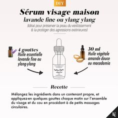DIY: Face serum Ideal for preserving the skin from aging and protecting it from external aggressions. Apply a few drops each evening unt. Beauty Care, Diy Beauty, Beauty Hacks, Beauty Skin, Beauty Ideas, Japanese Face, Tips & Tricks, Natural Beauty Tips, Face Serum