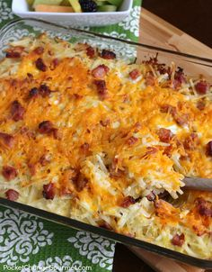 Hashbrown Casserole with Ham | Pocket Change Gourmet