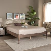 Colette French Bohemian Wood Platform Bed Frame | Overstock.com Shopping - The Best Deals on Beds - Antique white - King