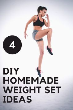 With gyms and dumbbells sold out everywhere it's hard to get a good workout in during quarantine. Check out these unique ideas to make your own weight set at home! Rower Workout, Stepper Workout, Health And Fitness Tips, Fitness Goals, Workout Fitness, Weight Set, Weight Loss, Ectomorph Workout, Strength Training For Beginners