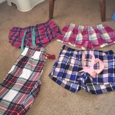 Plaid bundle!!! All extra smalls except top left is a small. They all fit the same. All are old navy except top right. Old Navy Intimates & Sleepwear