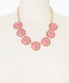 Love this Hot Pink Circle Dot Necklace by Pepper Loves Mint on #zulily! #zulilyfinds