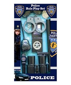 Another great find on #zulily! Gray Police Officer Eight-Piece Accessory Set by Dress Up America #zulilyfinds