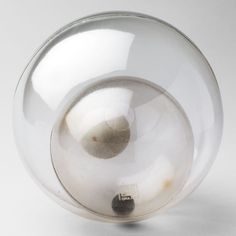 """Bruno Munari. double spheres Object. 1963. Plastic and rubber, diam. 5 7/8"""" (15 cm). Manufactured by Bruno Danese, Milan, Italy."""