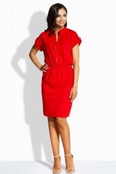 Rochie din bumbac Rosie casual cu fermoar in fata, banda elastica in talie! Dresses For Work, Products, Fashion, Sash, Moda, Fashion Styles, Fashion Illustrations, Gadget