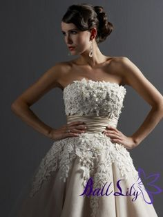 Gorgeous Bust Applique Strapless Tealength Wedding Dress DWTL002  $299.00 (USD)   I bought this dress on a whim, as I had never bought clothes from www.balllily.com before, much less a dress I needed to wear to a holiday party a few days after receiving the dress. Either way, I'm so glad I did it. www.balllily.com offer Wedding Dresses, Bridesmaid Dresses, Evening Dresses ,Prom Dresses ,Flower Girl Dresses And Mother Of The Bridal Dresses. www.balllily.com