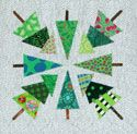 Free Block Pattern: Trees from Quilters Newsletter