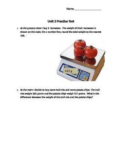 Eureka Grade 3 Module 2 End of Unit Practice Test