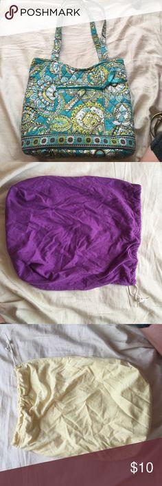 Set of 4 bags One Vera Bradley bag, one shoulder bag, and 2 drawstring bags Bags