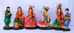 Set of working womends- Indian dolls