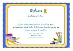 Educ@ naWeb ....Pré-Escolar: Diplomas de Finalistas Award Certificates, School, Day, Frames, Printables, Album, Prom Party, Certificate, Owls