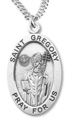 St. Gregory Medal Sterling Silver  - Silver