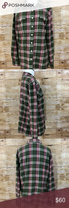 Patagonia Long-Sleeved Fjord Flannel Shirt SZ 14 Soft Organic Cotton Flannel with classic flannel shirt styling with Button-front placket. Chest patch pockets with button flap closures. Buttoned cuffs and straight hem with side slits.   Size 14. Regular Fit. Patagonia Tops Button Down Shirts