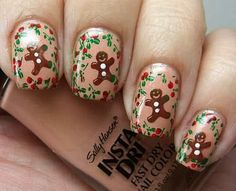 Friendly Nail Art Community with Nail Art Picture and Video Tutorials. Make your nails look awesome and share your nail art designs! Fancy Nails, Love Nails, How To Do Nails, Pretty Nails, Style Nails, Christmas Nail Art Designs, Holiday Nail Art, Christmas Design, Xmas Nails