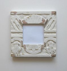 Housewares White Photo Frame Beach Cottage Decor by BrookeHowie, $34.00