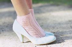 Pastel socks in pastel shoes