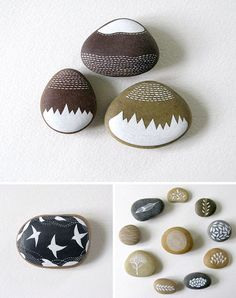 Painted rocks by Natasha Newton - www.ImaginativeBloom.com