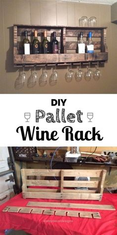 Insane 17 Smart What can a Pallet Do Ideas   The post  17 Smart What can a Pallet Do Ideas…  appeared first on  Emmy's Designs . Diy Wood Pallet, Wood Pallet Wine Rack, Pallet Crafts, Diy Pallet Projects, Home Projects, Pallet Ideas, Diy Crafts, Wood Crafts, Wood Pallets