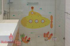 f6986e3e993 Adesivo submarino para banheiro ou quarto infantil. Adesivo De Parede