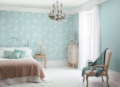 possible bedroom colours duck egg blue and light brown?