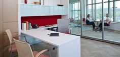 What an office w glass walls can look like