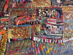 "a ""rag painting"" by Aminah Brenda Lynn Robinson"
