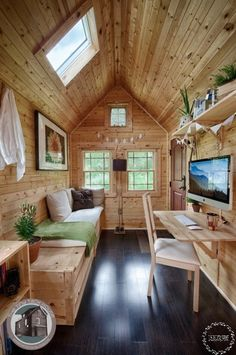 Last Trending Get all images small house interior pictures Viral the tack house tiny homes x Best Tiny House, Modern Tiny House, Tiny House Living, Small House Plans, Tiny House Layout, Tiny House Design, House Layouts, Beautiful Small Homes, Home Design Living Room