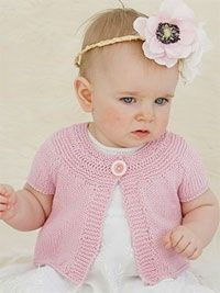 Baby Girl Scalloped Edge Rosebud Cardigan Knitting Free Knitting Patterns For Baby Girl Sweaters Baby Knitting Patterns, Baby Cardigan Knitting Pattern, Knitted Baby Cardigan, Knitted Baby Clothes, Knitting For Kids, Baby Patterns, Free Knitting, Cable Sweater, Vintage Knitting