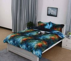 32 Of The Best Duvet Covers You Can Get On Amazon Galaxy Bedding, 3d Bedding, Luxury Bedding, Linen Bedding, Comforter, Bed Linens, Cheap Bed Sheets, Cheap Bedding Sets, Bedding Sets Online