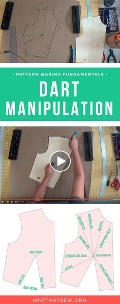 Pattern Making Fundamentals: Dart manipulation and pivot points (VIDEO)
