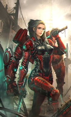 Off On A Comet - Sci-Fi, Fantasy Art, Cyberpunk, and Comics Fantasy Women, Fantasy Girl, Female Character Design, Character Art, Character Concept, Concept Art, Fantasy Anime, Comic Manga, Sci Fi Armor