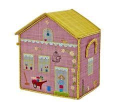 Lys rosa kurvhus til oppbevaring, villa