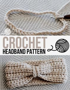 Crochet Chained Ear Warmer - Headband Pattern by Rescued Paw Designs || Click to Read or Pin and Save for Later! http://www.rescuedpawdesigns.com