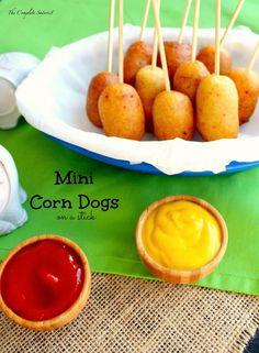 Mini Corn Dogs | Community Post: 17 WAYS TO EAT FOOD ON A STICK