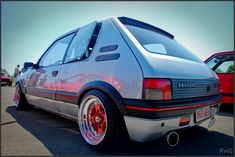 It's simple, easy but I love it, another that I wanna have - Peugeot 205 GTI ; Classic European Cars, Classic Cars, Gt Turbo, Lancia Delta, Honda Civic Type R, Power Cars, Car Tuning, Modified Cars, Small Cars