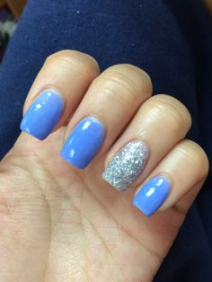 Love the blue with the silver glitter!!