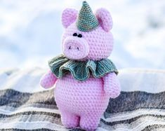 Hand knitted toys amigurumi: funny and cute от ToyForJoyStudio Handmade Toys, Hand Knitting, Knitting Toys, Crochet Toys, Handicraft, Needlework, Hello Kitty, Etsy Seller, Unique Jewelry