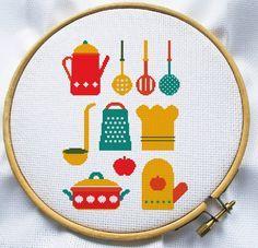 Kitchen cross stitch pattern PDF cross stitch por MagicCrossStitch