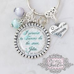 Mother of the Groom Gifts, Wedding Key chain or Necklace, Gift from Bride to Mother in law, Wedding Date Jewelry ** To view further for this item, visit the image link.