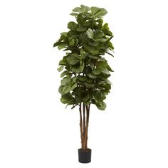 Nearly Natural 6 ft. Fiddle Leaf Fig Silk Tree - 5346